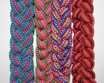 Back Strap Loomed Fabric Belts or Head Wraps