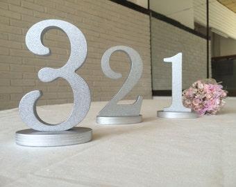 Wedding Table Numbers, Table numbers wedding, Table Numbers, wedding numbers set, table numbers glitter