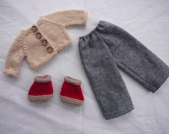 Pants and Cardigan Set - Doll Clothing