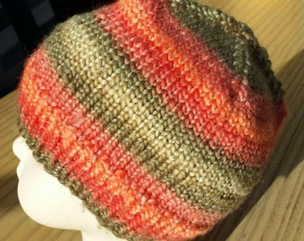 Beanie cup - childrens cup - multicolor - knitted - handmade - 10109