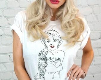 Marilyn Monroe style icon Tshirt