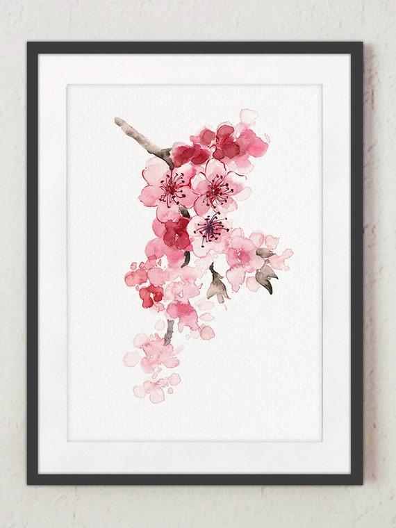 cherry branch home decor cherry tree pink newborn girl
