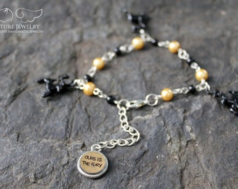 House Baratheon Sigil Charm Bracelet   Inspired by Game of Thrones   Ours Is The Fury   Tommin / Joffrey / Robert / Stannis   Iron Throne