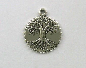 Sterling Silver Yggdrasil Norse Tree of Life Charm