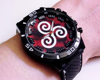 Teen Wolf Watch - Derek Hale Alpha Pack Triskel Silicone Strap Sports Watch