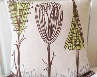 Modern Art Deco Tree Pillow
