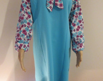 Vintage 1960's Turquoise & Floral Dress - GORGEOUS!!