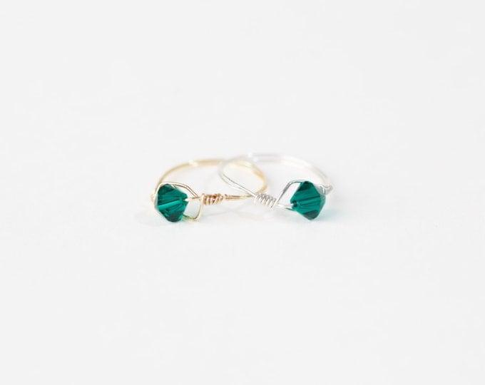 May Swarovski Crystal Birthstone Ring