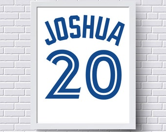 Blue jays gifts etsy toronto blue jays print poster baseball jersey gift for him personalized baby custom negle Gallery