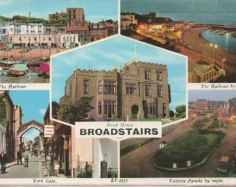 Used Postcard, Broadstairs, England, 1977, a little wear