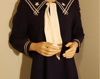 40s sailor dress m l