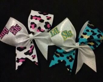 Big Sis/Lil Sis Cheer Bow Set