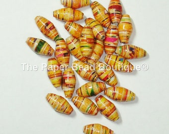 Hand Rolled Loose Paper Beads Supplies Barrel Colored Pencil Shavings