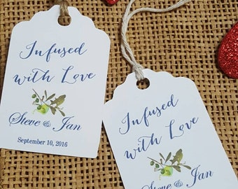 """Personalized Favor Tags 2.5""""Lx1.8""""w , Wedding tags, Thank You tags, Favor tags, Gift tags, Bridal Shower Favor Tags,"""