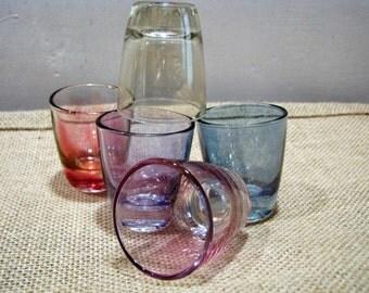 5 x 1950s Shot Glass Ruhrglas – Coloured – Vintage German Barware – Mid Century Design – different colours – Schnapps