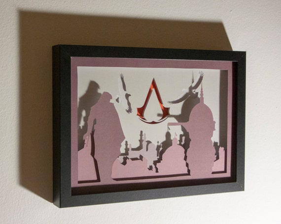 Paper Bag Wall Decor : Assassin creed framed hand paper cut special wall by
