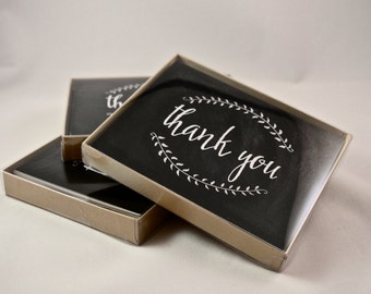 Chalkboard Thank You Cards with Envelopes - Set of 10