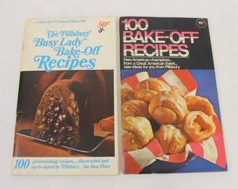 The Pillsbury Busy Lady Bake-Off Recipes, 17th Annual Bake-Off, 100 Bake-Off Recipes 20th Annual Bake-Off, Vintage Cookbook Magazines,