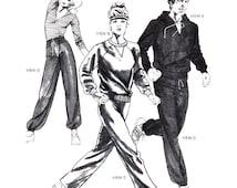 Stretch & Sew Sewing Pattern 1175 Jogging Suit  Size:  32-46  Uncut