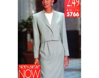 Butterick Sewing Pattern 5766 Misses' Jacket, Skirt, Top, Pants   Size:  B 16-24  or  A 6-14  Uncut