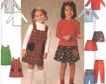 Simplicity Sewing Pattern 7742 Girl's Jumper, Skirt, Pants, Knit Top  Size:  BB  5-6-6X  Uncut