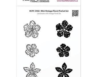 Heartfelt Creations Cling Rubber Stamp Set ~  Mini Vintage Floret, HCPC3502 ~