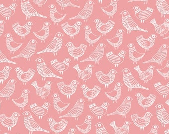 Cloud9 fabric first light - flock pink