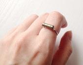 Pyrite Gemstone Ring   Fools Gold Bead Ring   Gift   Boho