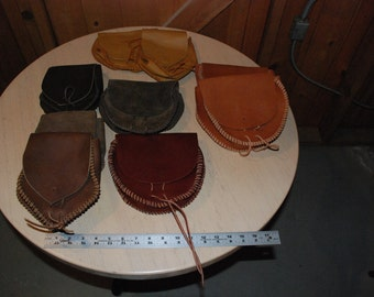 Leather Pouch for Renaissance, Biker, Pirate, Steam Punked, LARP, SCA