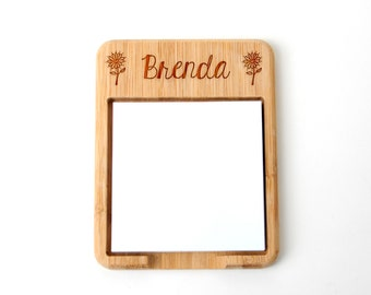 Personalized Post it Note Holder - Custom Teacher Gift - Post-it notes wood holder
