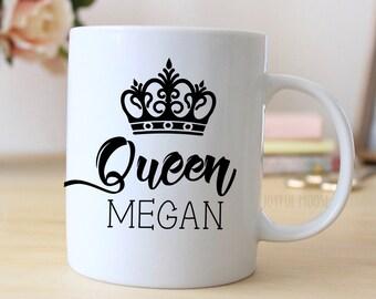 Personalized Coffee Mug - Personalized Coffee Mug Gift for Her - Custom Queen Coffee Mug