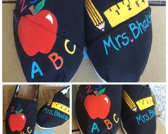 Custom Painted Teacher Toms