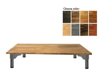 Wood Computer Stand for Desk, Monitor Riser. Multiple Sizes + Colors Available.