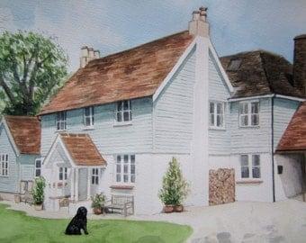 Personalised House Watercolour Portrait