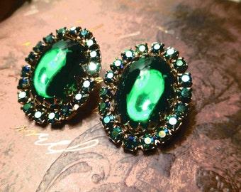 Green Jewel Earrings