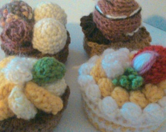 cake crocheted pincushion handmade