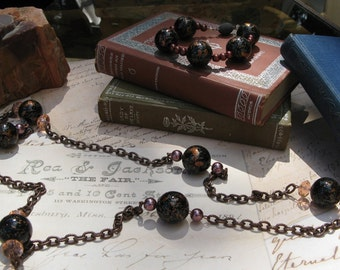 Ball and Chain Necklace with Matching Bracelet Set
