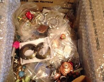 Now On Sale Big lot of Vintage Jewelry Destash Estate Jewelry Craft Lot Earrings
