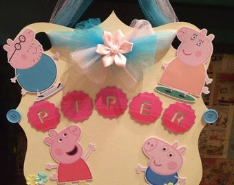 Peppa Pig room decoration/peppa pig bedroom/Peppa pig wall art