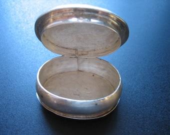 Vintage Sterling .925 Mexico Hinged Pill Snuff Trinket Box