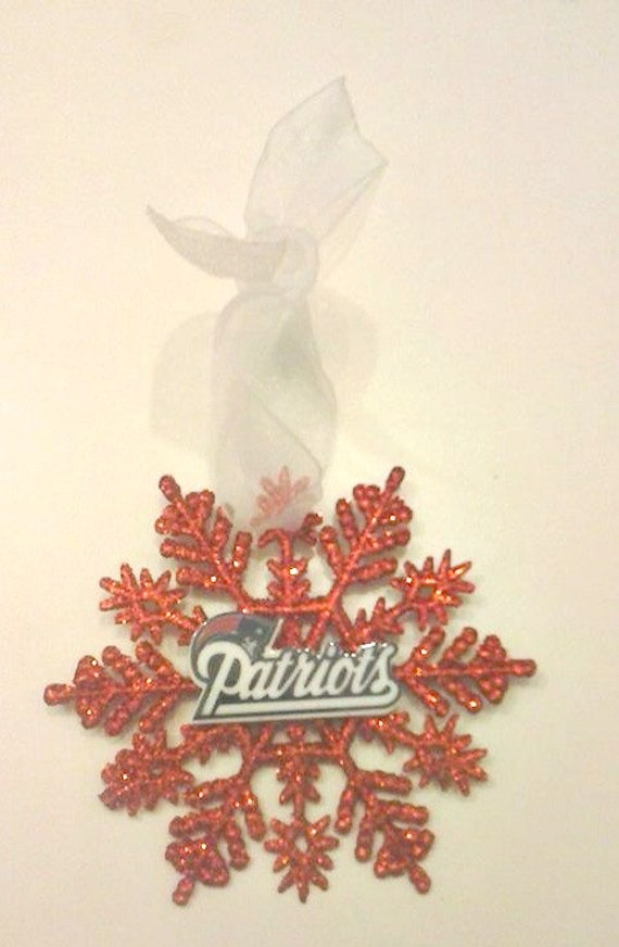 Patriots Christmas Ornament New England Patriots Football