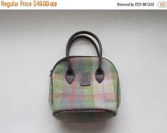 SALE Harris Tweed Wool Bag 100% Pure Wool Designer Tartan Check Womens Scottish Handbag