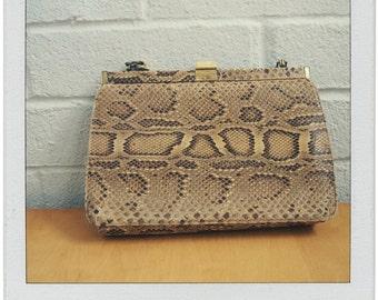 Vintage Rattle Snake Handbag