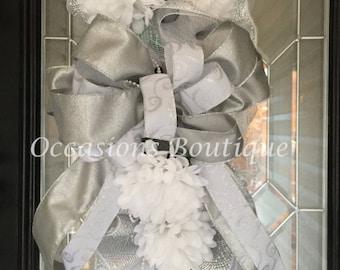 Wedding Wreath, Bridal Shower Decoration, Engagement Party Decoration, Wedding decor, Wedding Gift, Made to Order