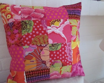 """Patchwork Kaffee Fasset fabric Cushion   Cover   16"""" x 16"""""""