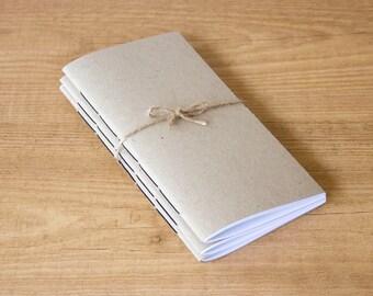 Pack of 3 kraft notebook inserts, Midori insert, Travelers notebook, Midori notebook, Fauxdori inserts, Midori inserts, Bullet journal