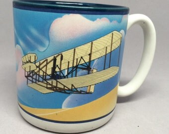 CLEARANCE Vintage Wright Flyer Coffee Mug Smithsonian Institution National Air & Space Museum Potpourri Press 1988