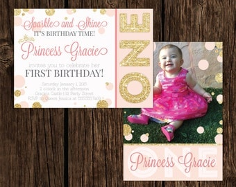Princess Theme Birthday Invitation