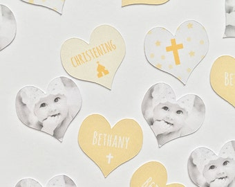Personalised 'Christening' Photo Table Scatter/Confetti