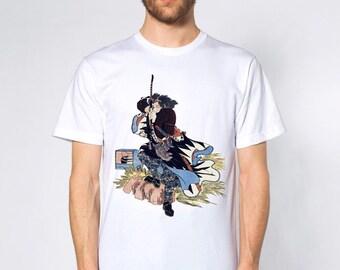 KillerBeeMoto: Ebiya Rinnosuke Samurai With Bow Short & Long Sleeve T-Shirt